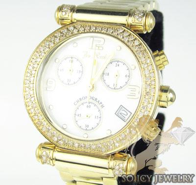Ladies Joe Rodeo Diamond Watch Yellow Valerie 1.10ct