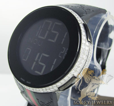 White Diamond Igucci Digital Watch 5.00ct Full Case