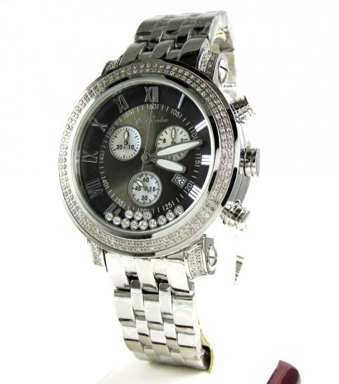 Mens Joe Rodeo Black Tyler Diamond Watch 2.00ct