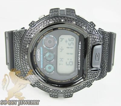 Mens Diamond Black G-shock Watch 0.15ct