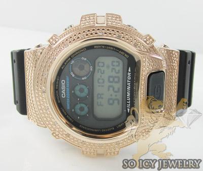 Mens Diamond Rose Silver G-shock Watch 0.15ct