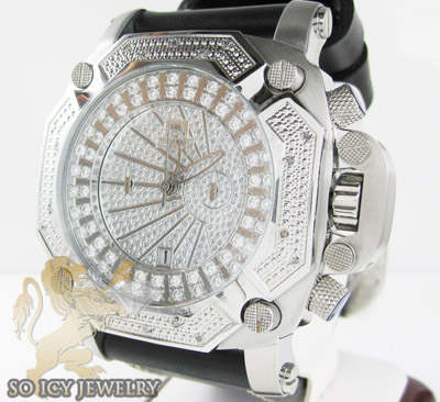 Mens Diamond Techno Master Super Xl Watch 0.20ct