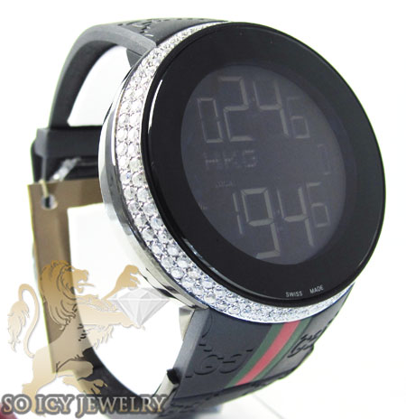a425acb4c60 WHITE DIAMOND iGUCCI DIGITAL WATCH 2.60CT
