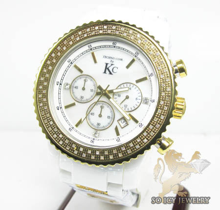 Techno com kc diamond white ceramic watch 1.80ct