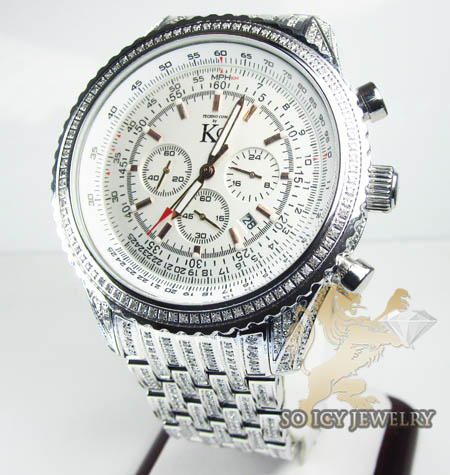 Techno Com Kc Diamond Fully Iced Out Watch 9.50ct