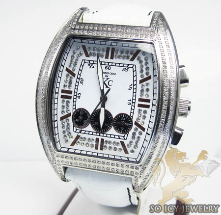 Techno Com Kc Diamond White Frankie Watch 1.00ct