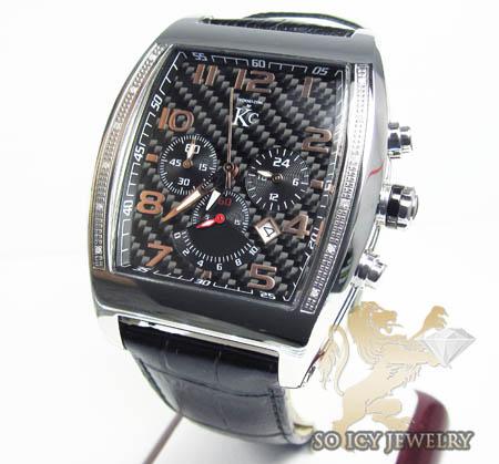Techno com kc diamond black carbon fiber watch 0.15ct