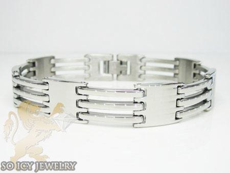 White Stainless Steel Multi-link Design Bracelet