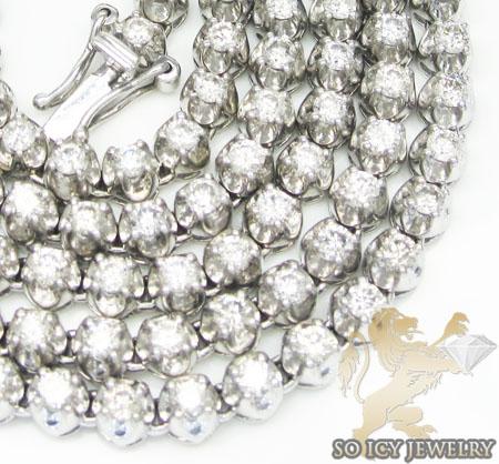 14k White Gold Round Diamond 'tennis Chain' 11.50ct