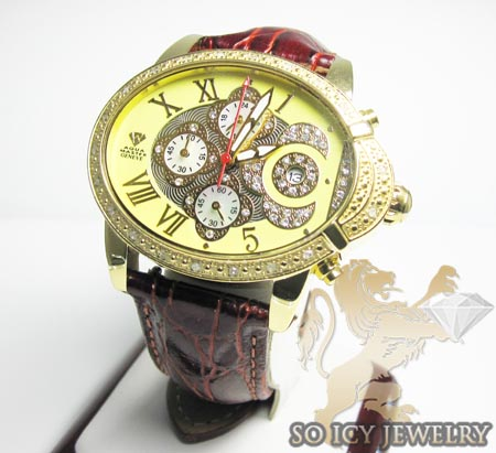 Ladies Aqua Master Genuine Diamond Yellow Geneve Watch 0.20ct