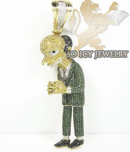 10k yellow gold diamond cartoon pendant 800ct aloadofball Gallery