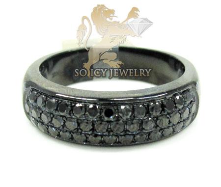 10k Black Gold Black Diamond Pave Fashion Ring 1.25ct