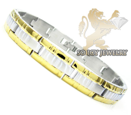 Two tone stainless steel bracelet