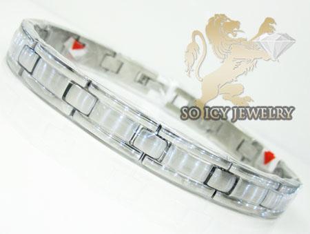 White Stainless Steel Fashion Bracelet