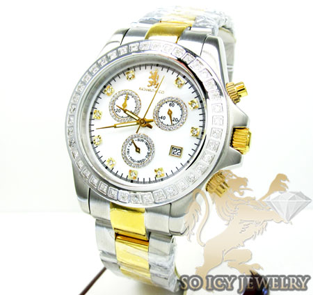 0.75ct Mens Richard & Co Genuine Diamond Watch 'two Tone Lx'