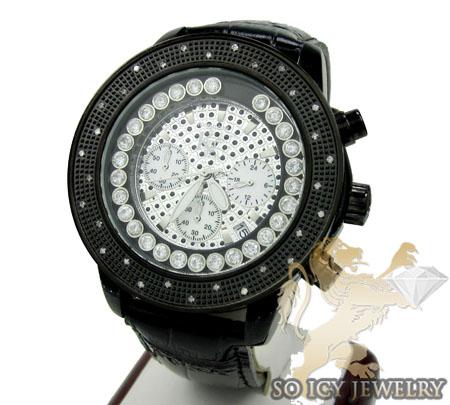 0.30ct Mens Techno Com By Kc Black Genuine Diamond Watch