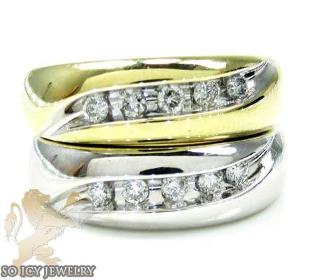 Unisex 14k Yellow Gold Round Diamond Wedding Band 0.50ct