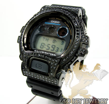 Mens Black Cz Dw-6900 Black G-shock Watch 3.00ct