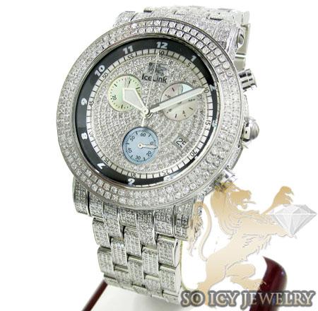 DIAMOND ICELINK ICE BANK MENS WATCH 9.50CT f6f4b8766