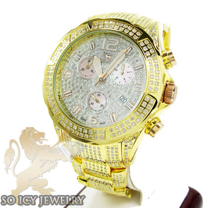 Diamond Yellow Icelink Aqua Terra Mens Watch 7.00ct
