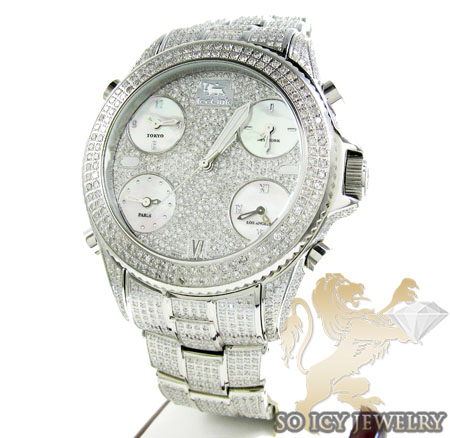 DIAMOND ICELINK MARCO POLO FULLY ICED MENS WATCH 15.00CT