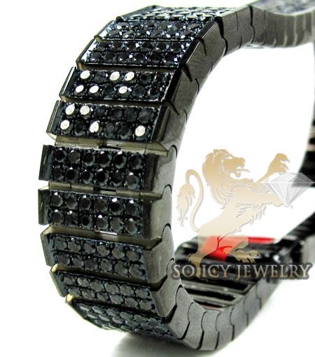 Black Sterling Silver  Black Diamond Tennis Bracelet 17.44ct