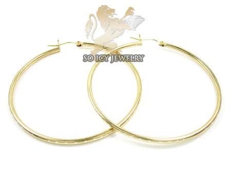 14k Yellow Gold Classy Hoops