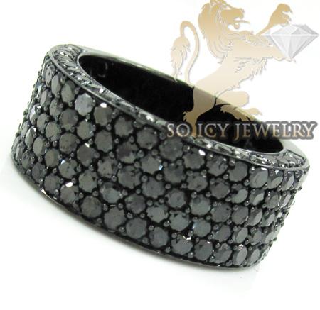 Mens 10k black gold black diamond band 3.75ct