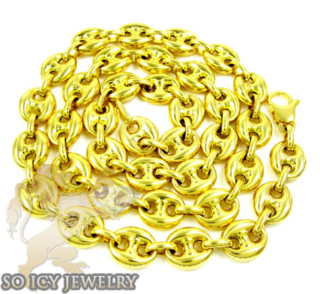 14k yellow gold gucci link chain 24 inches 8.5mm