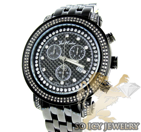 Mens Joe Rodeo Black Stainless Steel Tyler Diamond Watch 2.00ct Jty15