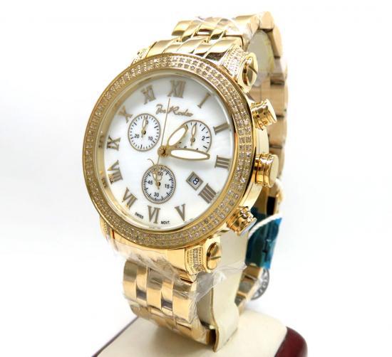 Mens Joe Rodeo Yellow Stainless Steel Classic Diamond Watch 1.75ct Jcl23
