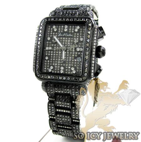 Ladies Joe Rodeo Black Stainless Steel Madison Black Diamond Watch 13.50ct Jrmd34