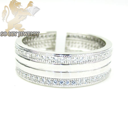 Unisex Sterling Silver Cz Fashion Ring 1.00ct