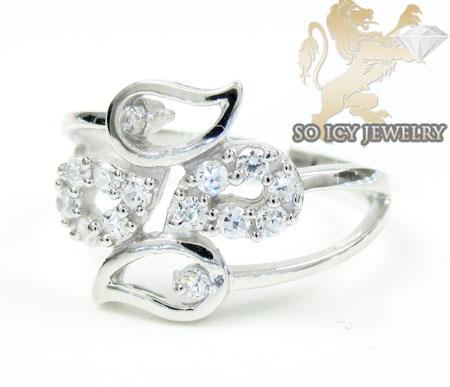 Sterling Silver White Cz Fashion Ring 0.25ct