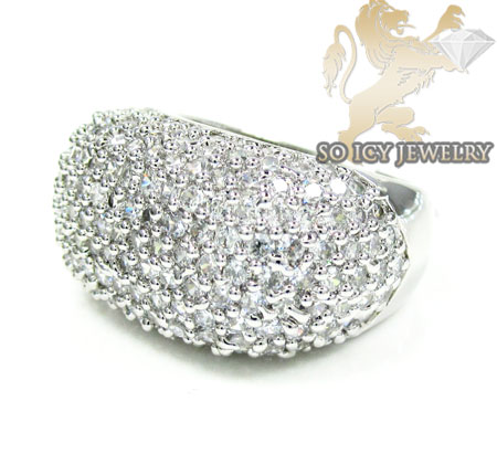 Sterling Silver White Cz Fashion Ring 3.00ct