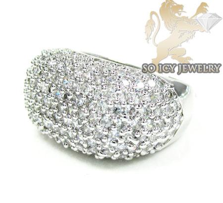 Sterling Silver White Cz Fashion Ring 3.00ct