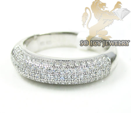 Sterling White Cz Fashion Ring 1.00ct