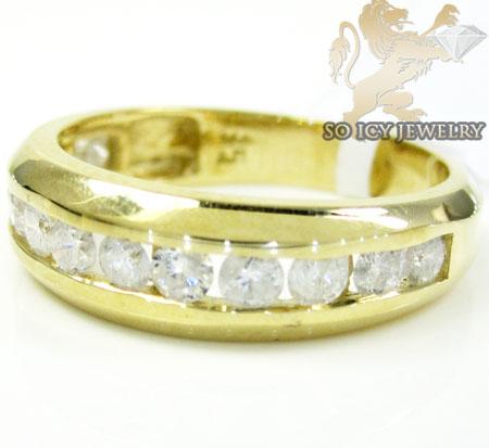 Unisex 14k Yellow Gold Diamond Wedding Band 1.00ct