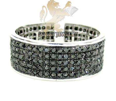 14k White Gold Black Diamond Fashion Ring 1.20ct