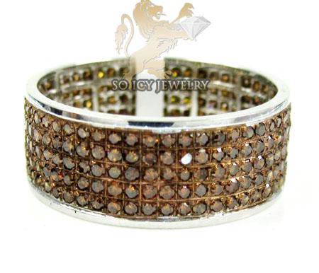 14k White Gold Red Diamond Fashion Ring 1.20ct