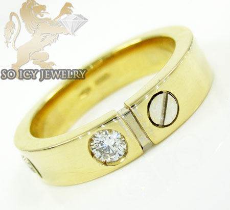 Mens baraka 18k white & yellow gold diamond wedding band 0.15ct