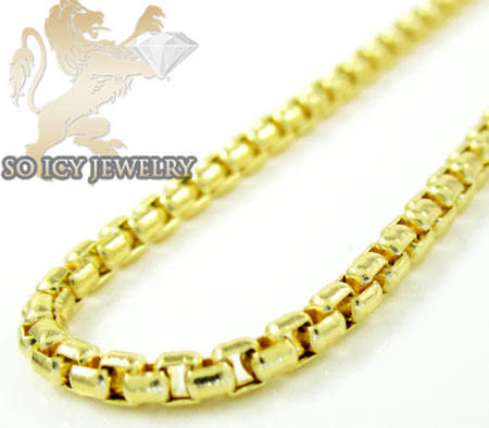 14k yellow gold box link chain 16-30 inch 2mm