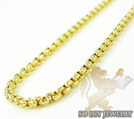14k Yellow Gold Box Link Chain 16-30 Inch 1.5mm