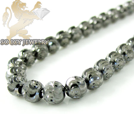 14k black gold diamond cut ball bead chain 16 inch 4mm