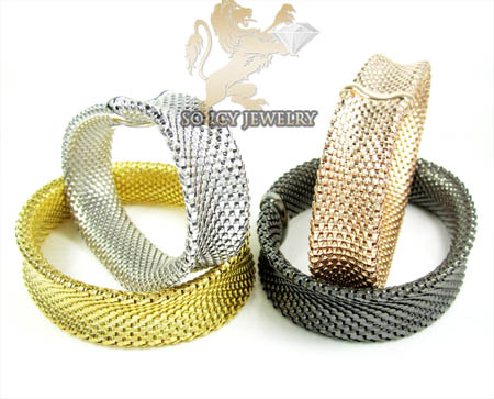 Ladies .925 Silver Snake Bangle Bracelet