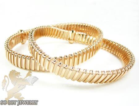 Ladies .925 rose silver snake bangle bracelet