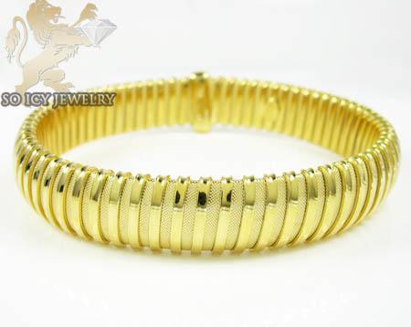 Ladies .925 yellow silver snake bangle bracelet
