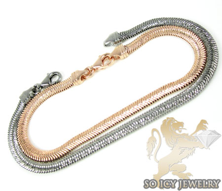 Ladies .925 Silver Diamond Cut Skinny Snake Bracelet