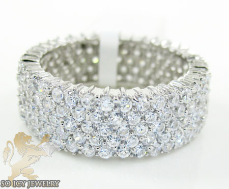 Ladies .925 Silver Cz Eternity Band 2.00ct