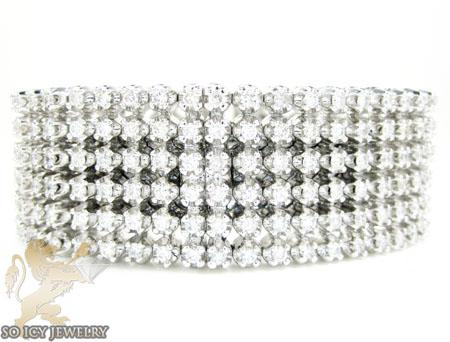 White Stainless Steel Diamond Breitling Super Avenger Wrist Band 7.00ct
